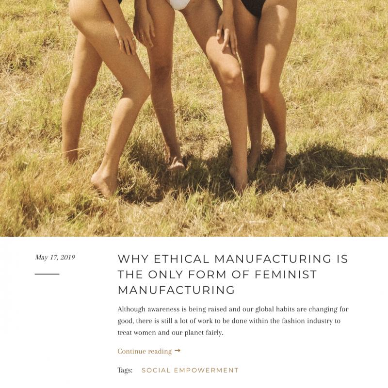 Ethical Swimwear Blog